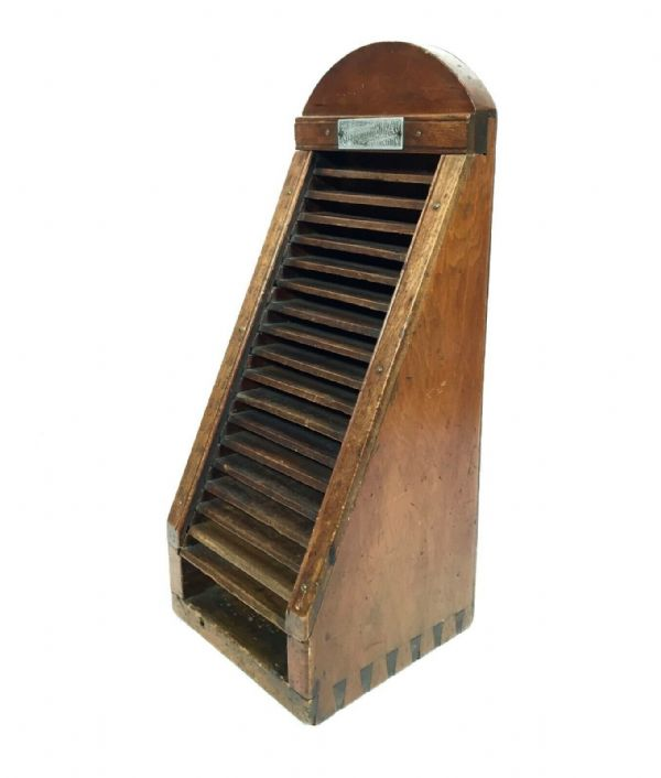 Antique Wooden Printers Block Storage Rack / Shelf / Box By Stephenson & Blake